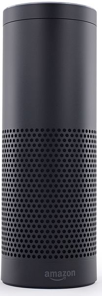 Photo of Amazon Echo smart speaker.
