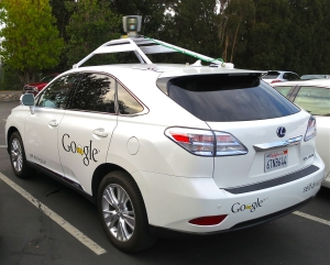 Photo of self driving car.