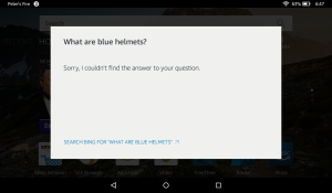 Amazon Alexa tripped up when it came to describing Blue Helmets as UN peacekeeping forces.